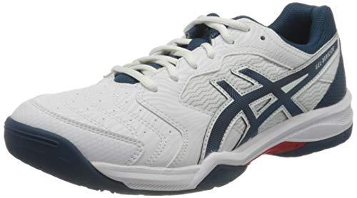 Asics Gel-Dedicate 6, Tennis Shoe Hombre, White/Mako Blue, 42.5 EU