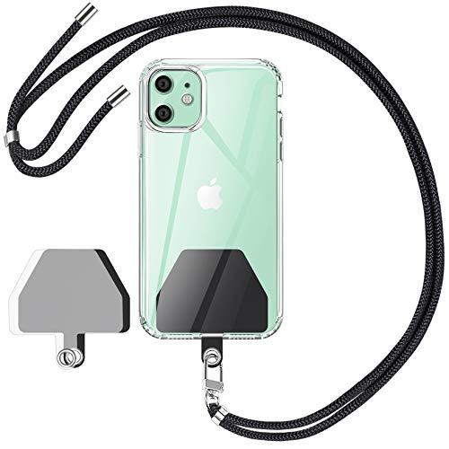 RYMALL 2 Unidades Parche para teléfono móvil con Cadena para Teléfono Móvil Universal, Correa para el Cuello Desmontable Compatible con la mayoría de los teléfonos Inteligentes