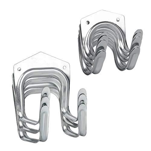 Gydandir - Juego de 8 ganchos para herramientas de almacenamiento, para herramientas de pared, ganchos de almacenamiento, ganchos de pared para almacén, garaje, cobertizos, granja, banco de trabajo