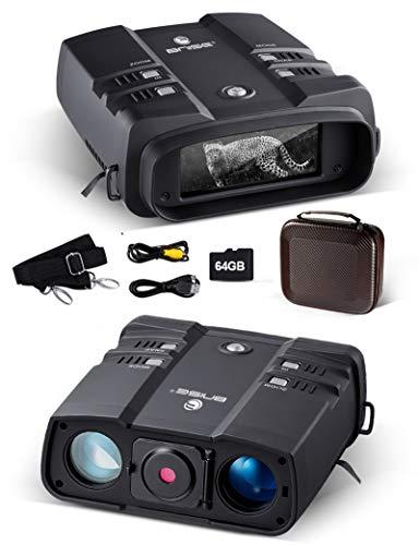 Prismáticos Visión Nocturna 3.6-10.8x31mm 64GB 1080P binoculares Digitales Infrarrojos de Alta Potencia con visión Nocturna Equipo espía infrarrojo para Caza y vigilancia