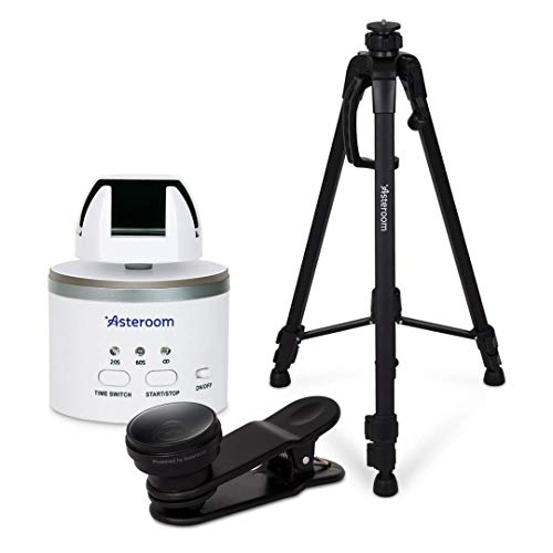 Asteroom 360 Camera 3D Virtual Tour Real Estate Kit - Gear Includes: Tripod, Digital Camera Rotator, Fisheye Cam Lens (Asteroom iPhone/Samsung Phone Case Not Included, Purchased Separately on Amazon)