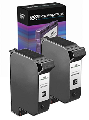 Speedy Inks Remanufactured Ink Cartridge Replacement for HP 15 (Black, 2-Pack)