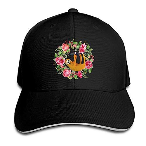 Sloth Hang Black wwoman Unisex Adults Vintage Washed Baseball Cap Adjustable Dad Hat