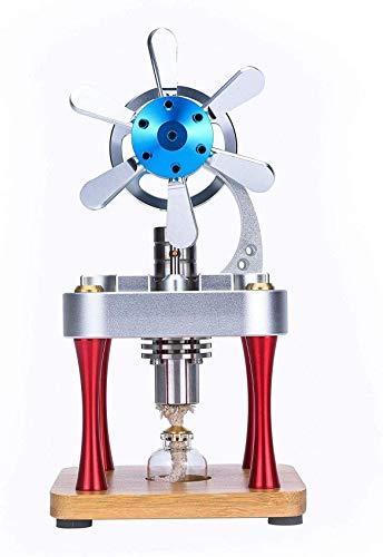 OKMIJN Kit De Motor Stirling, Modelo De Generador De Motor Stirling De Metal Refrigerado por Aire para Bricolaje, Motor Generador De Electricidad, Regalo De Experimento Físico para Adultos Y Niños