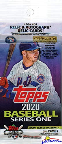 2020 Topps Series 1 MLB Baseball EXCLUSIVE HUGE Factory Sealed JUMBO FAT Pack with 34 Cards including (2) TURKEY RED 2020 Inserts! Loaded with Rookies & Cool Inserts! Look for Autos & Relics! WOWZZER!