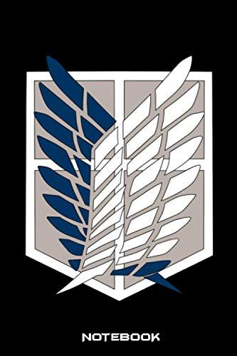 Attack On Titan Notebook: Lined Journal 6' x 9' 120 Pages, Attack On Titan Manga, Gift For Attack On Titan Lovers, Eren Jäger, Attack On Titan Anime, ... Livaï Ackerman, Mikasa Ackerman, Armin Arlert