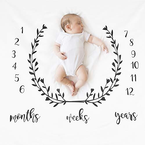 Accessoires de couverture de photographie de bébé, accessoires de photographie nouveau-né de croissance de record de croissance de couverture de bébé de jalon pour enfants(C)
