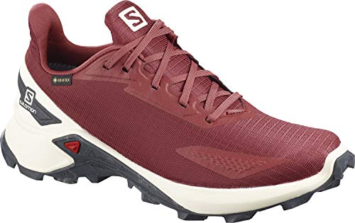Salomon Alphacross Blast GTX, Zapatillas De Trail Running Impermeables Mujer, Rojo (Apple Butter/Vanilla Ice/Ebony), 39 1/3 EU