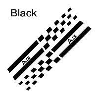 DLDBB 2PCS /セットカーBピラーデカールオートデコレーションスポーツステッカー魅惑的なフィルムステッカーカーアクセサリー、アウディA3 8P 8V 8L用