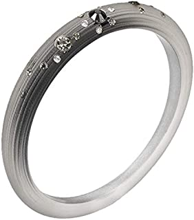 Chic Charcoal Resin Bangle with Cubic Zirconia Detail