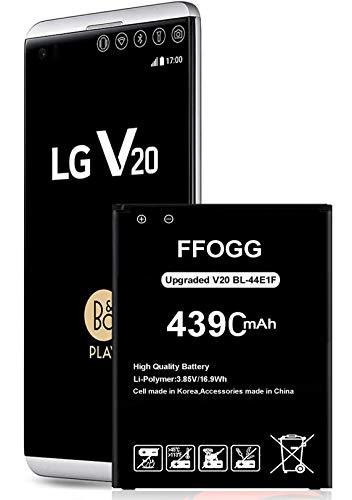 LG V20 Battery,FFOGG 4390 mAh Li-Ion Battery for LG V20 BL-44E1F US996, AT&T H910, T-Mobile H918, Verizon VS995, Sprint LS997 Spare Battery