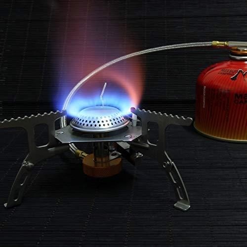 Zhouzl Productos de Camping Herramienta for Acampar al Aire Libre Estufa de Campamento BBQ Cocina Estufa de Gas portátil Horno de Gas Dividido Productos de Camping