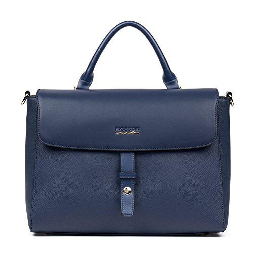 FIGESTIN Handbags Women Genuine Leather Tote Purse Ladies Designer Shoulder Bags Girls 262Blue