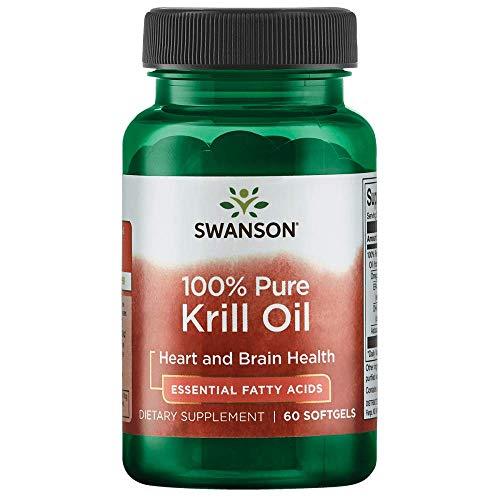 Swanson 100% Pure Krill Oil 500 Milligrams 60 Sgels