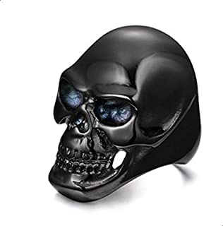 Ring in the form of a skull for men titanium size 12