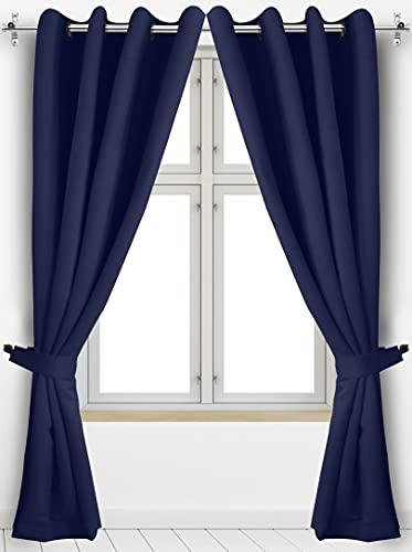 Utopia Beddin G ojal Top con aislamiento térmico Blackout cortinas, 2 paneles, 132,08 cm x 213,36 cm