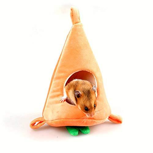 SJHFG Nido de hámster con forma de zanahoria para colgar pequeños animales domésticos de invierno de la casa de la jaula de accesorios de decoración suave y lindo nido de cobayas.