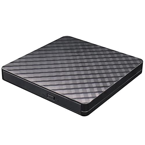 Unidad de CD externa USB 3.0 CD portátil DVDBurner DVD Caja móvil externa Unidad óptica Ajuste para Windows Vista XP(negro)