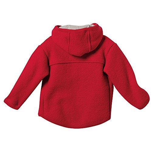 Disana Baby und Kinder Walk Jacke 323 aus Bio Schurwolle kbT (74/80, Rot-A)