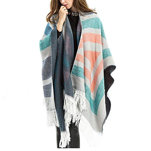Teerwere Shawl Shawl Wraps Large Blanket Scarves for Women Comfortable Warmth for Fall Winter Or Spring Days Shawls and Wraps Warm (Color, Size : 155X140CM)