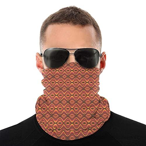 asdew987 Cubierta de la cara,Polaina del cuello,Folk africano horizontal tradicional ondulado impresión hippie, bandana, sombreros