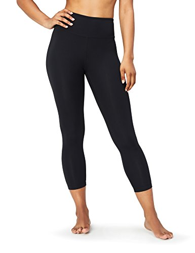 Marchio Amazon - Core 10, Spectrum, leggings per yoga, da donna (XS-3X), a vita alta, a pinocchietto, 61 cm, Nero (black), US L (EU L - XL)