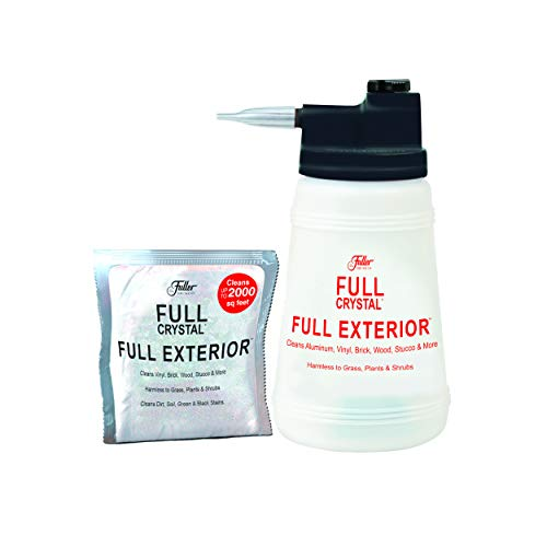 Full Exterior Kit - Bottle, Lid with Hose Attachment and Two 4 oz. Crystal Powder Outdoor Cleaner : Non-Toxic, No Scrub,...