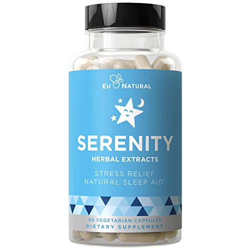 natural sleeps Serenity Natural Sleep Aid – Drift Off & Fall Asleep Without Being Groggy – Non-Habit Forming – Magnesium, Valerian Root, Melatonin – 60 Vegetarian Soft Capsule