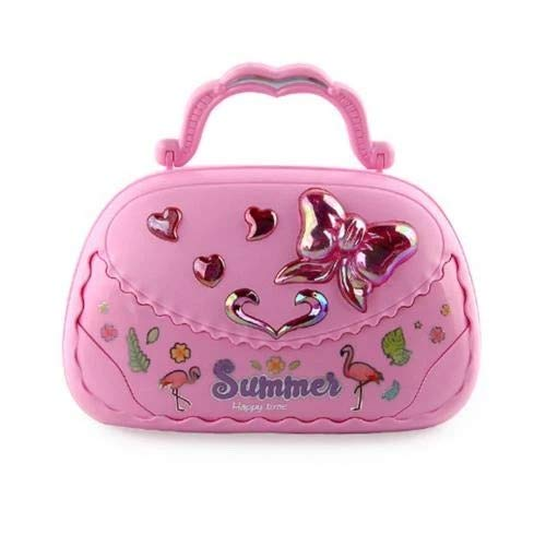 Gather together Pink Jewelry Box Earring Holder Kids Girls Music Box Handbag Shape Rotating Ballet Girl Mirror Music Box Musical Toy Children Gifts