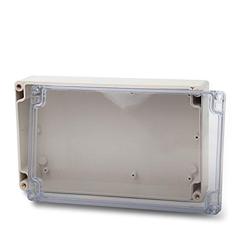 edi-tronic ABS Leergehäuse Transparent 200x120x56 Industriegehäuse IP66 Kunststoff Gehäuse