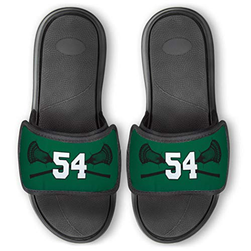 Repwell Lacrosse Slide Sandals   Your Number   Green   M10