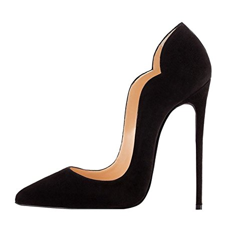 Soireelady Scarpe Donna con Tacco,High Heel Scarpe,Scarpe con Tacco Alto Donna Nero EU38