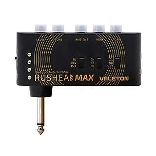 scheda valeton rushead max usb ricaricabile portatile tascabile chitarra basso amplificatore per cuffie carry-on camera da letto plug-in multi-effetti