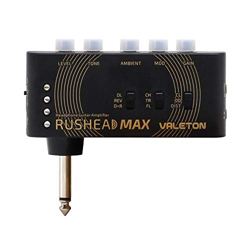 Valeton Rushead Max USB Aufladbar Portabel Hosentasche Gitarre Bass Kopfhörer Verstärker Schlafzimmer Multi-Effects