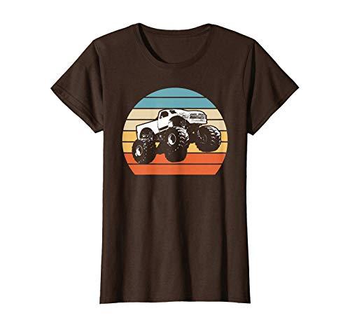 Retro Cute T-Shirt Monster Truck American Flag Racing USA Vintage
