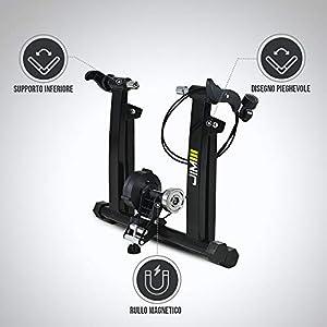 JIM Fitness - Rodillo magnético para Entrenamiento de Bicicleta Interior.