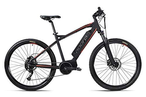 Adore Alu E-Mountainbike Hardtail 27,5'' Xpose Schwarz Mittelmotor 36 V/14 Ah Li-Ion-Akku 9-Gang