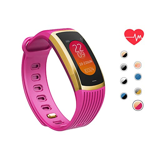 AOE Fitness Tracker with Heart Rate Blood Pressure Steps Calories Sleep Alarm Monitor, Activity Tracker Waterproof Health Smart Bracelet with Call SMS Remind Pedometer, Best for Kids Women Men Older