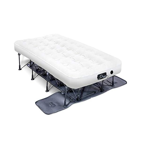 Ivation EZ-Bed Inflatable Mattress with Frame & Rolling Case, Auto Shut-Off...