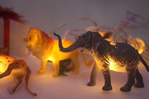 HOOLIGHT String Lights 10 LEDs The Small Animals String Lights Children Room Decoration Super Fun Lights Light for Boys Room Indoor String Lights Liven up The Room