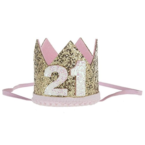 1/2 1st 2nd 3rd 21st 30th Birthday Gold Crown Headband for Baby Girls Boys Adult Birthday Party Headwear Hair Accessories