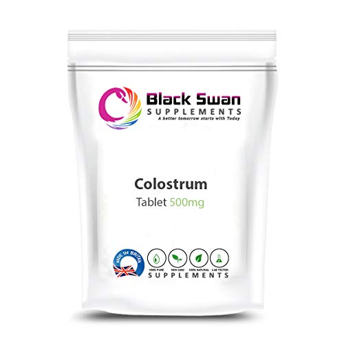 Black Swan Colostrum Supplement | with Rich Amino Acid | Support Healthy Immune System | Healthy Stomach | Babies Milk Support | Healthy Energy Level | 500mg Tablets (30 tabs)