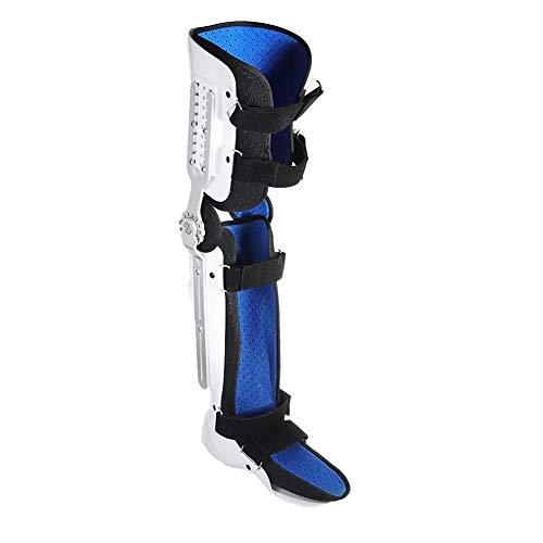 Soporte de ortesis con bisagras Protector de fracturas Soporte de tobillo de pantorrilla ajustable Soporte fijo Ortesis Estabilizador de rodilla, tobillo y pierna, Estabilizador completo de pierna