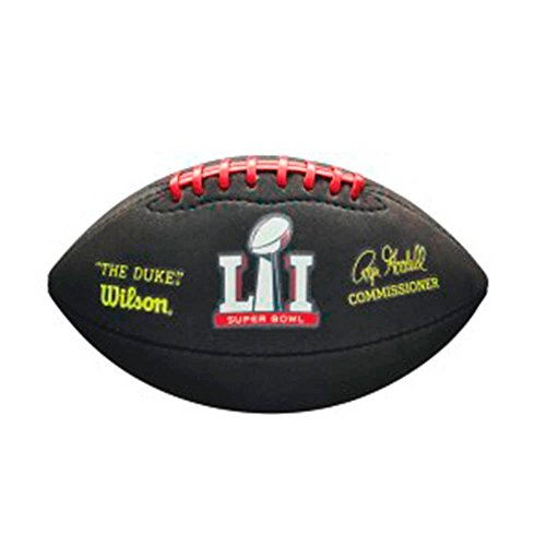 Wilson NFL Superbowl 51 Soft Feel Mini American Football LTD ED [Black]