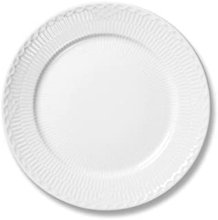 Royal Copenhagen White Fluted Half Lace Plate By Arnold Krog