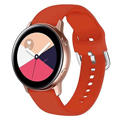LLKHFA Correa de silicona para reloj Samsung Galaxy Watch 42 mm Active2 40/44 mm suave para reloj deportivo Samsung S2 Classic (color de la correa: color 12, ancho de la correa: para Amazfit Bip)