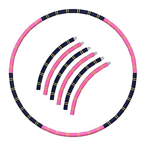 Hula Fitness Hoop, hoola hoop reifen erwachsene Zur Gewichtsreduktion und Massage Verwendet Werden KöNnen,6 Segmente Abnehmbarer Hula Hoop Geeignet Für Fitness/Training/Bauchmuskelkonturen