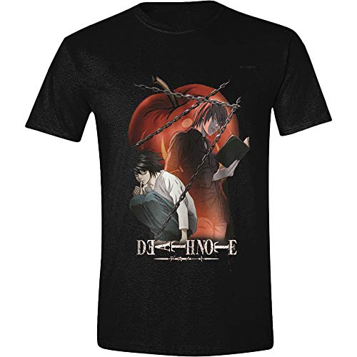 Death Note Chained Notes Männer T-Shirt schwarz L 100% Baumwolle Anime, Fan-Merch, Film, TV-Serien