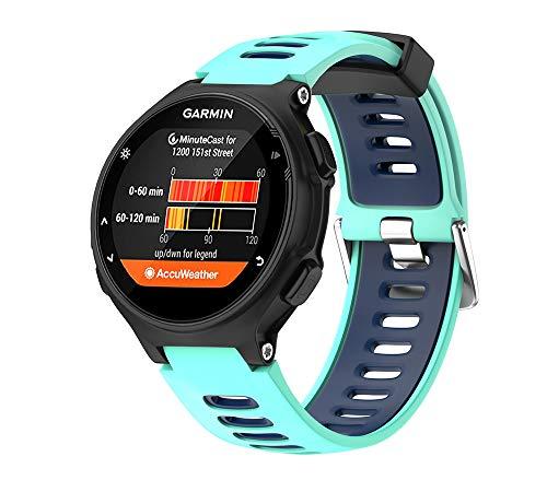 WIIKAI Bracelet Compatible avec Forerunner 735XT Réglables Replacement Band pour for Garmin Forerunner 735XT,630,620,235,230,220 Wristband Bracelet de Montres(Bleu Canard).
