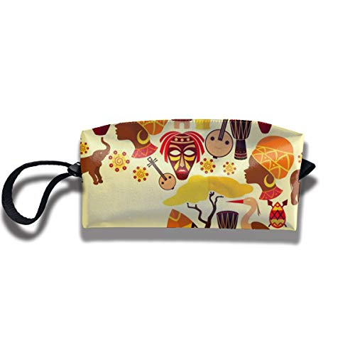 Bbhappiness Pouch Handbag Cosmetics Bag Case Purse Travel & Home Portable Make-up Receive Bag Africa Composition Elements